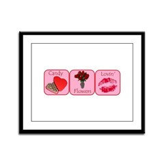 Candy, Flowers, Lovin Framed Panel Print