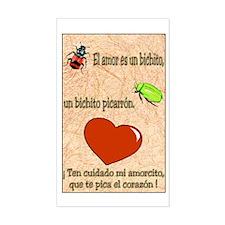 El Amor es un Bichito Rectangle Decal