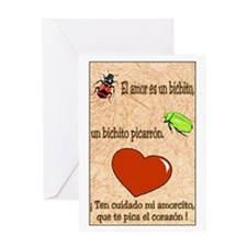 El Amor es un Bichito Greeting Card