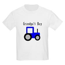 Grandpa's Boy Blue Tractor T-Shirt