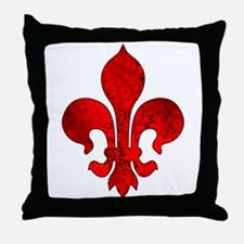 Fleur de lis Passion Throw Pillow