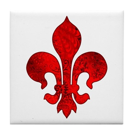 Fleur De Lis Passion Tile Coaster By Artegrity