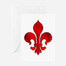 Fleur de lis Passion Greeting Cards (Pk of 10)