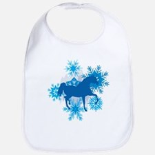 Hackney Snowflakes Holiday Bib