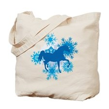 Hackney Snowflakes Holiday Tote Bag