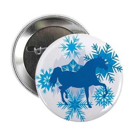 """Hackney Snowflakes Holiday 2.25"""" Button"""