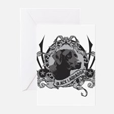 Black Labrador Stamp Greeting Cards (Pk of 10)