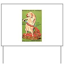 Vintage Pig Sausage Ad Yard Sign