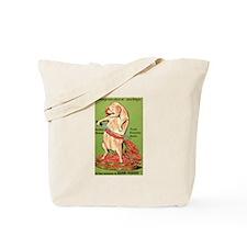 Vintage Pig Sausage Ad Tote Bag