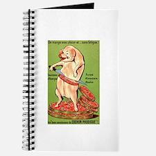 Vintage Pig Sausage Ad Journal