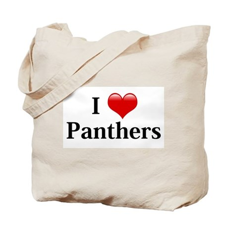 I Love Panthers Tote Bag
