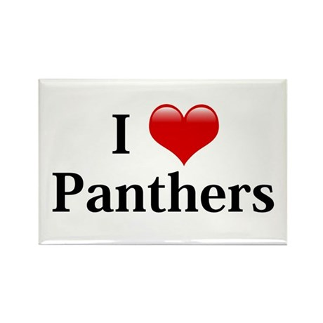 I Love Panthers Rectangle Magnet