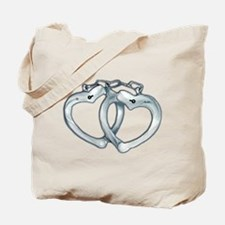 Handcuffed Hearts Tote Bag