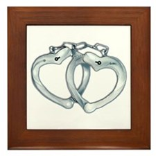 Handcuffed Hearts Framed Tile