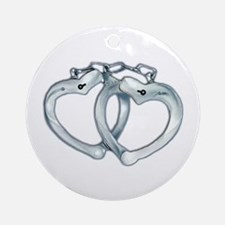Handcuffed Hearts Ornament (Round)