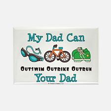 Dad Triathlete Triathlon Rectangle Magnet (100 pac