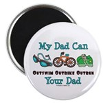 Dad Triathlete Triathlon Magnet