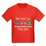 Dad Triathlete Triathlon Kids Dark T-Shirt