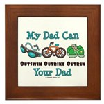 Dad Triathlete Triathlon Framed Tile