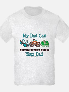 Dad Triathlete Triathlon T-Shirt