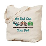 Dad Triathlete Triathlon Tote Bag