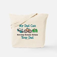 Dad Triathlete Triathlon Tote Bag