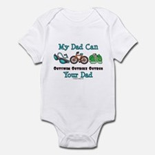 Dad Triathlete Triathlon Infant Bodysuit