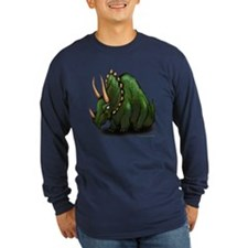Triceratops Dark Long Sleeve T-Shirt