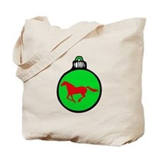 Green Mustang Christmas Tote Bag