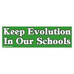 Keep Evolution In School Sticker