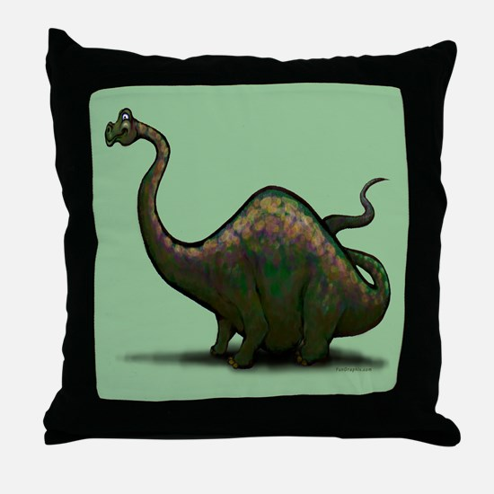 Unique Apatosaurus Throw Pillow