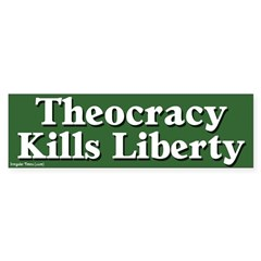 Theocracy & Liberty Bumper Bumper Sticker