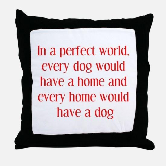 Dog Breeder Throw Pillow