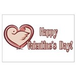 Happy Valentines Day Large Poster