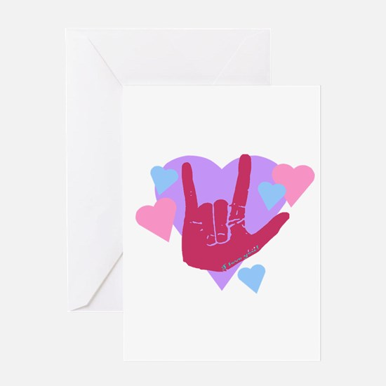 ILY Hearts Greeting Card