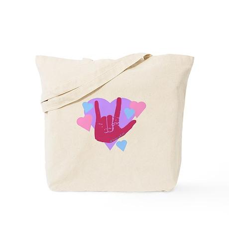 ILY Hearts Tote Bag
