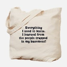 Everything I Need to Know Tote Bag