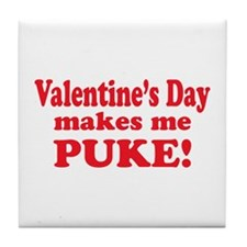 Anti-V-day Puke Tile Coaster