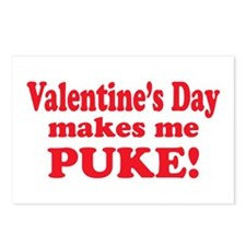 Anti-V-day Puke Postcards (Package of 8)