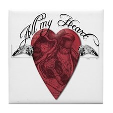 """All My Heart"" Tile Coaster"
