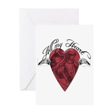 """All My Heart"" Greeting Card"