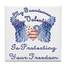 My Guardsman, My Valentine Tile Coaster