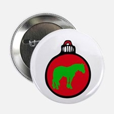 """Red Clydesdale Christmas 2.25"""" Button"""