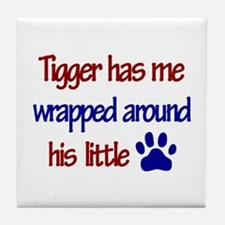 Tigger - Wrapped Around His L Tile Coaster