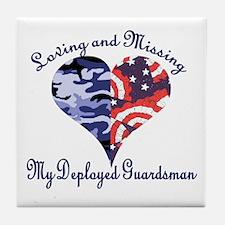 Loving and missing my deploye Tile Coaster