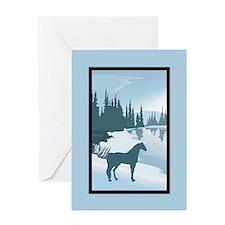 Silhouette Arabian Horse Christmas Greeting Card