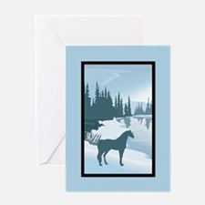 Silhouette Arabian Horse Christmas Greeting Card