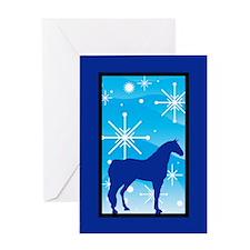 Snowflake Arabian Horse Christmas Greeting Card