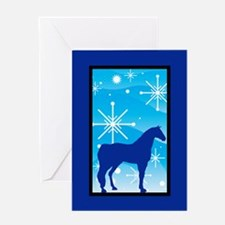 Snowflake Arabian Horse Christmas Greeting Card