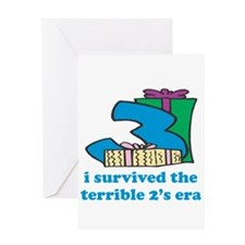 Three: I Survived The Terrible Two's Greeting Card